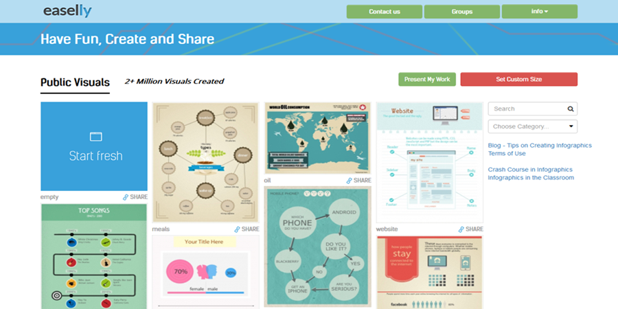 Best Tools For Creating Infographics Easel